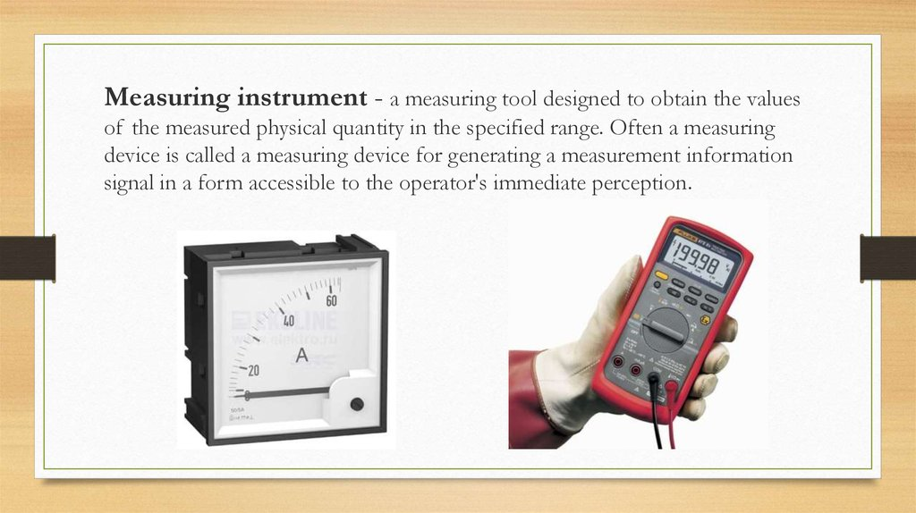 Physical Measuring Instruments : Measuring instruments презентация онлайн