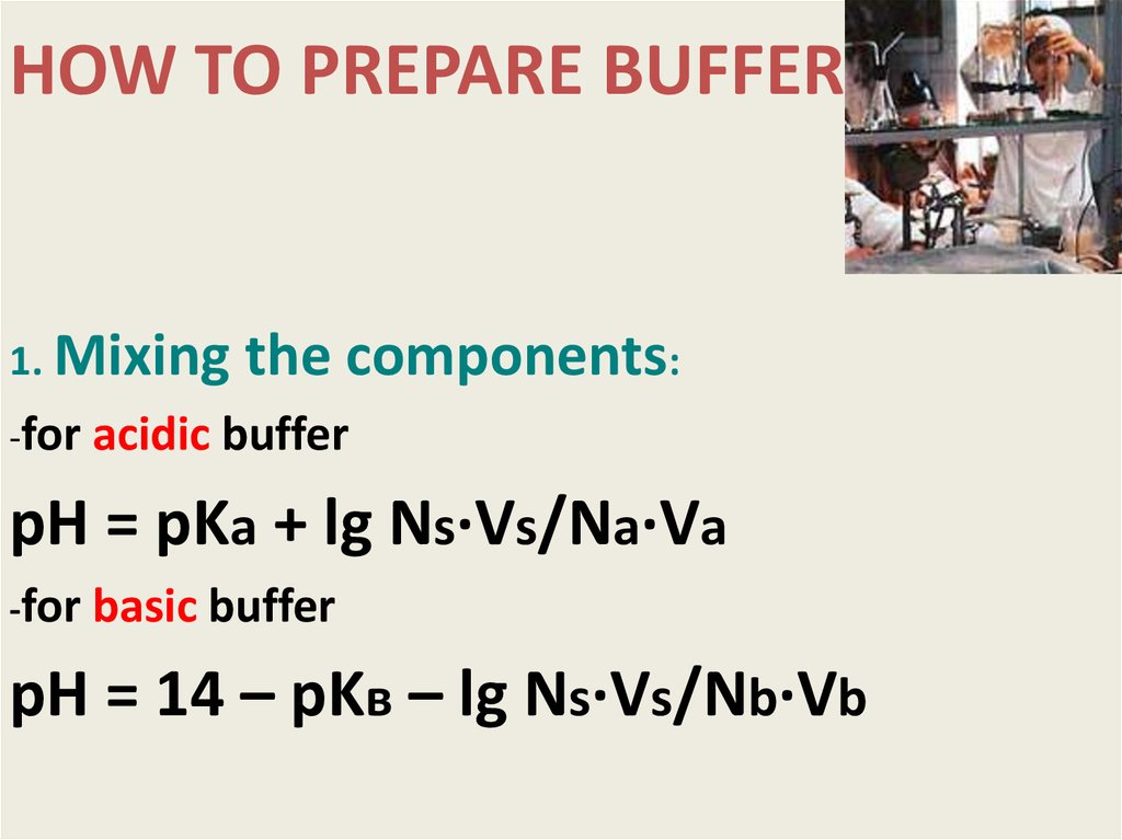 HOW TO PREPARE BUFFER