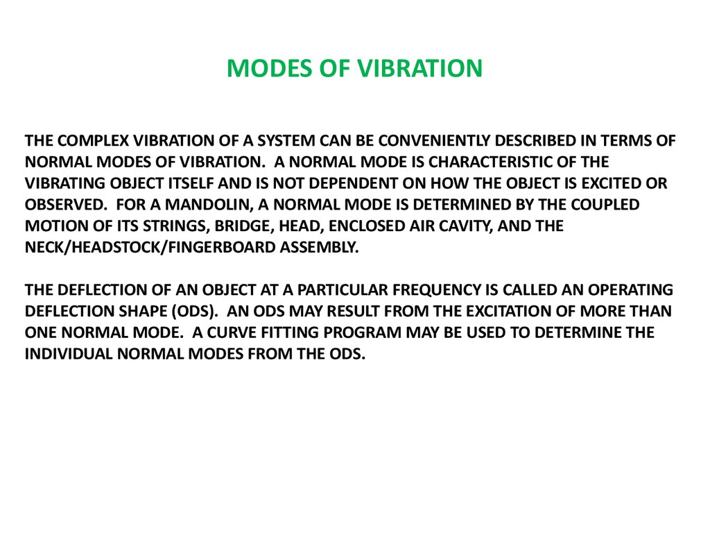 MODES OF VIBRATION