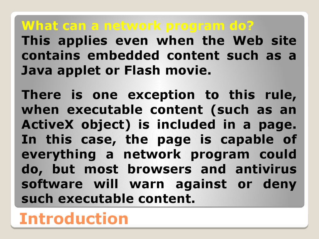 Network programming - online presentation