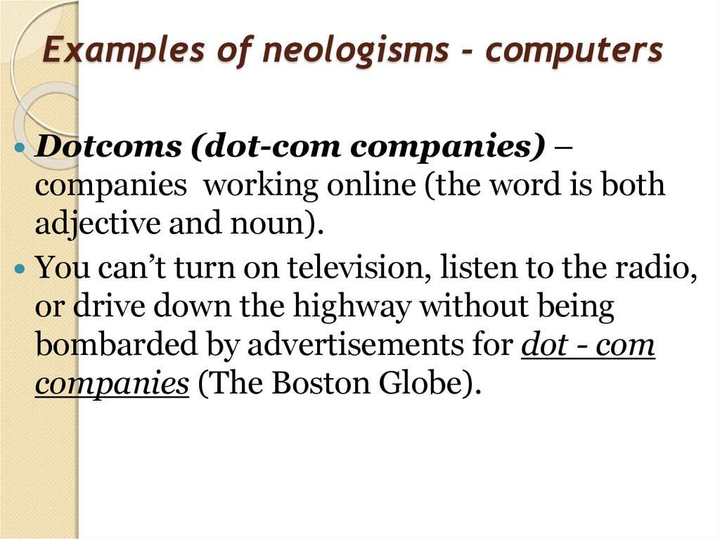 Examples of neologisms - computers