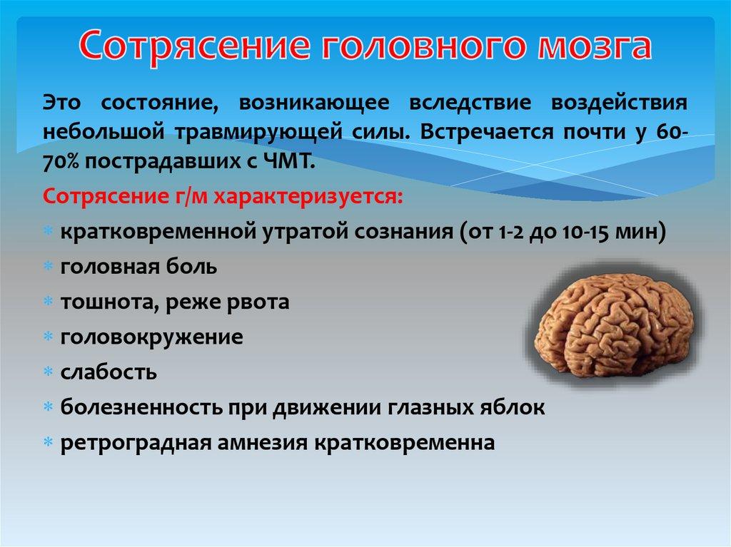 Код заболевания сотрясение головного мозга
