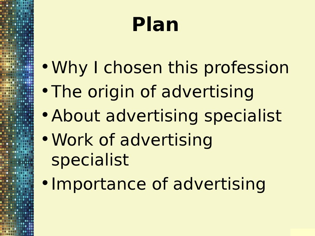 my future profession is advertising specialist - Online Advertising Specialist