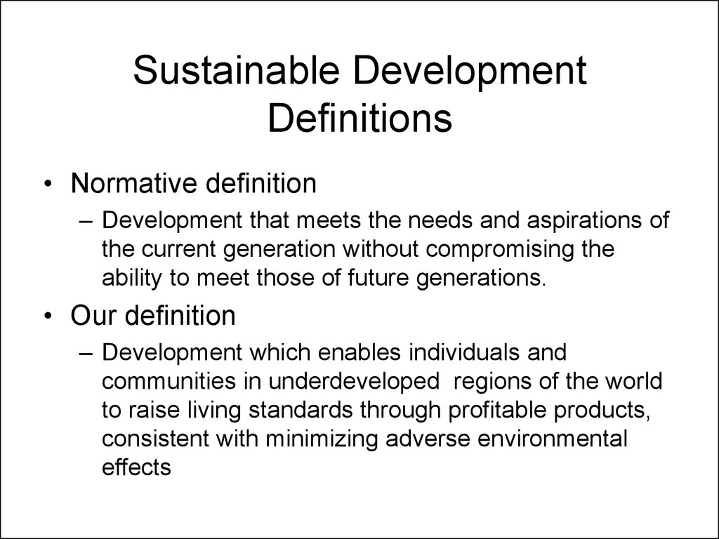 sustainable development - online presentation