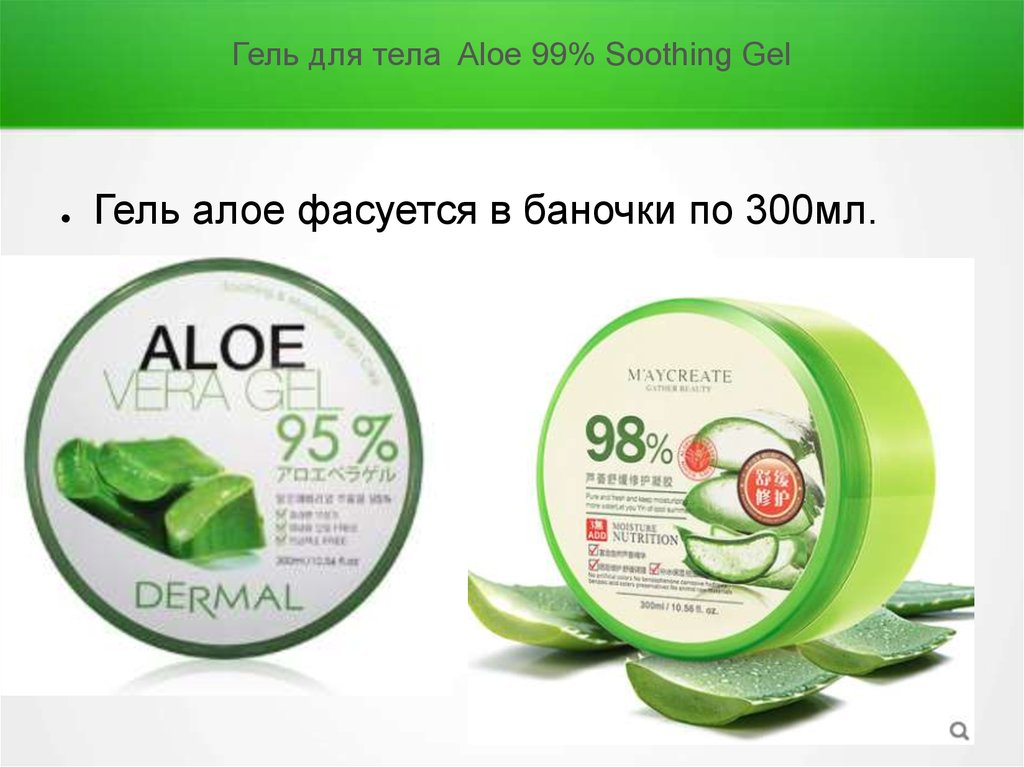 Гель для тела Aloe 99% Soothing Gel