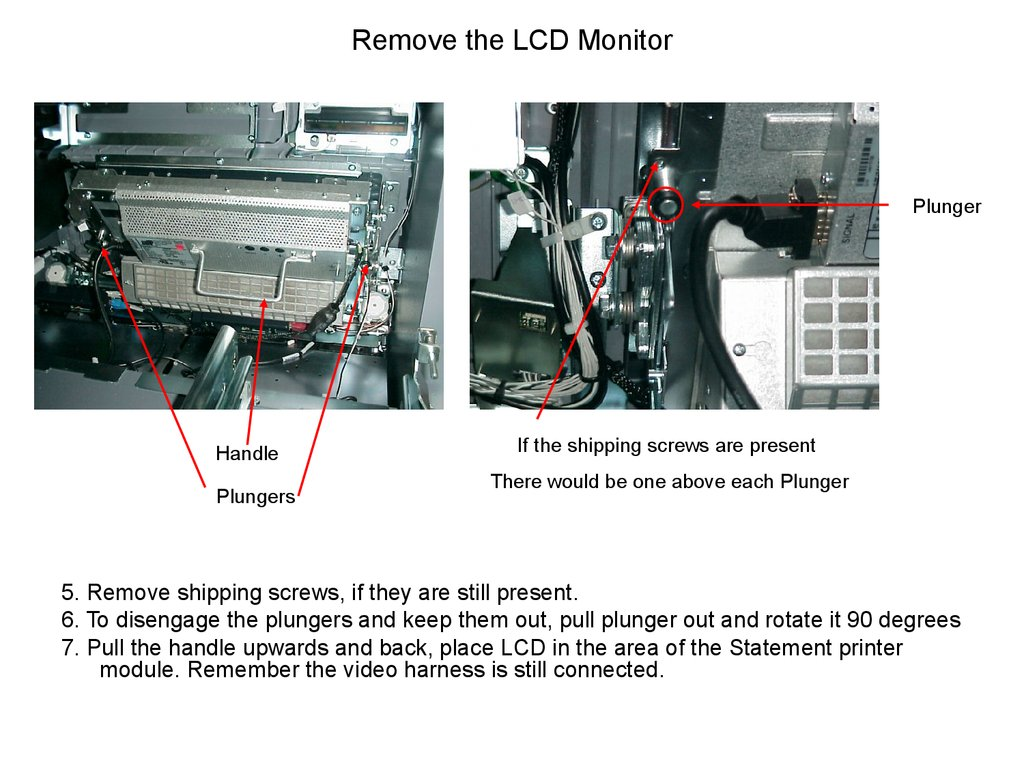 Remove the LCD Monitor