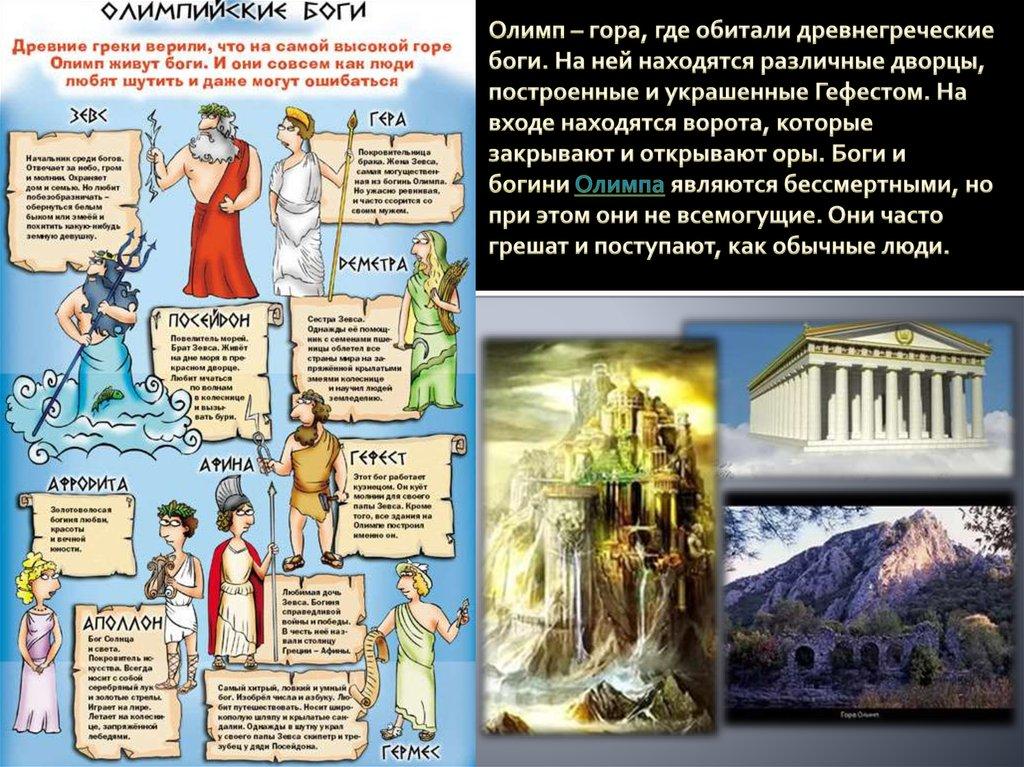 боги олимпа список и описание картинки