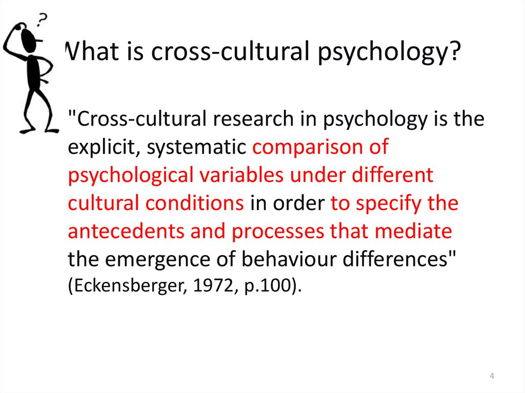 application of cross cultural psychology presentation Psy 450 week 5 application of cross-cultural psychology presentation imagine you are a consultant for an organization, and they would like you to.