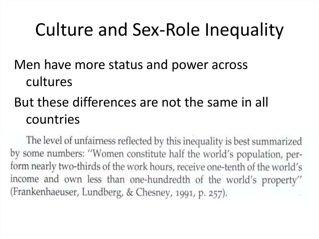 Culture and Sex-Role Inequality