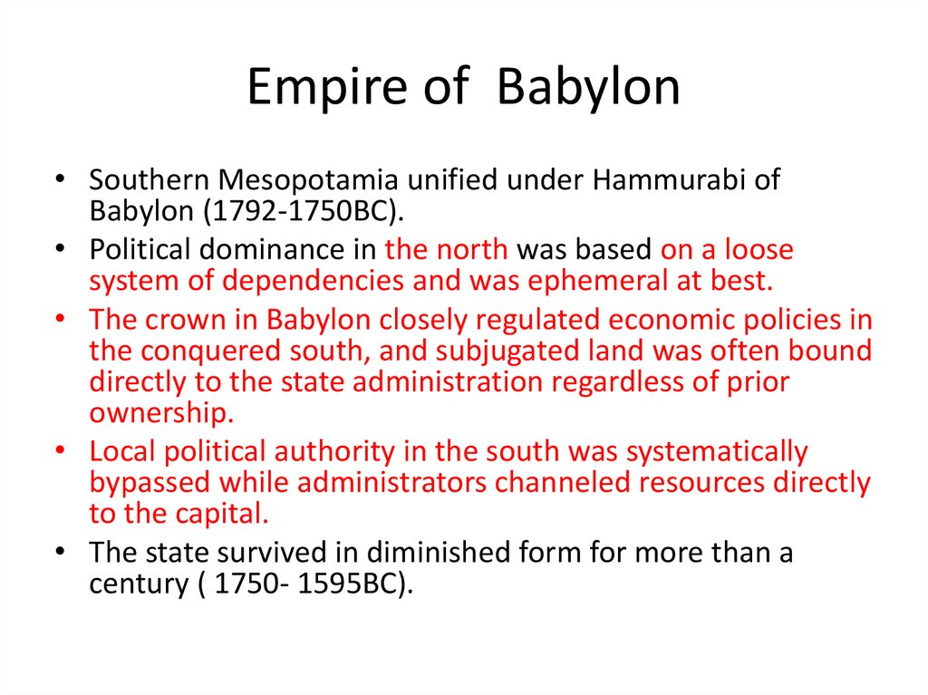 Empire of Babylon
