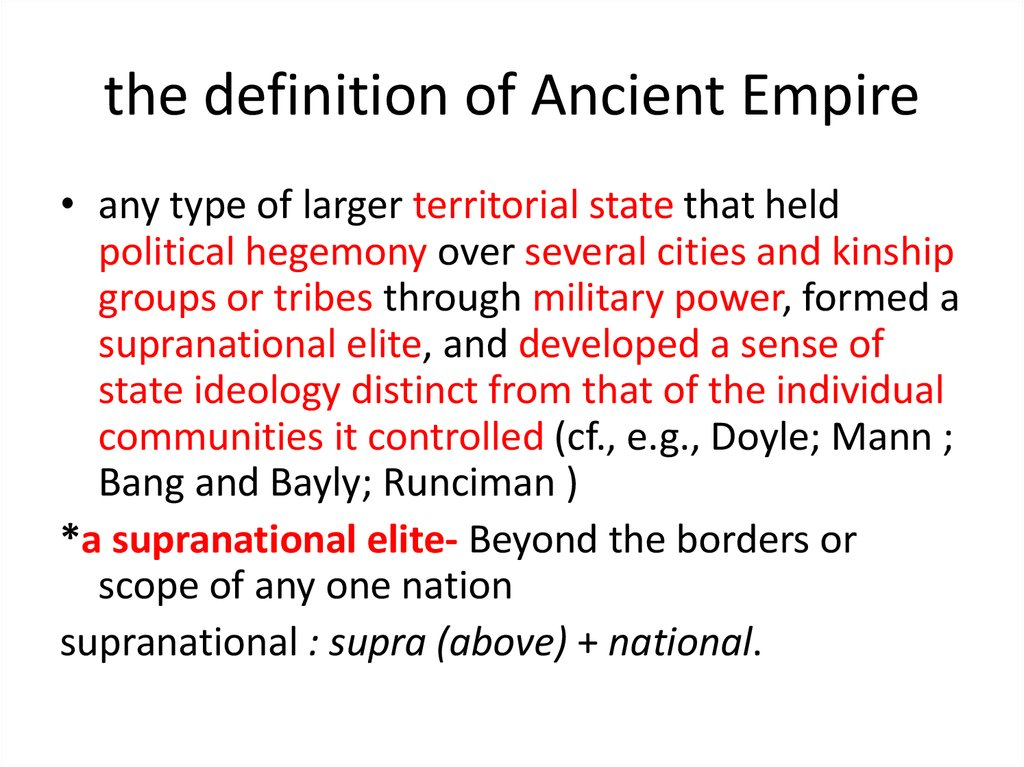 the definition of Ancient Empire