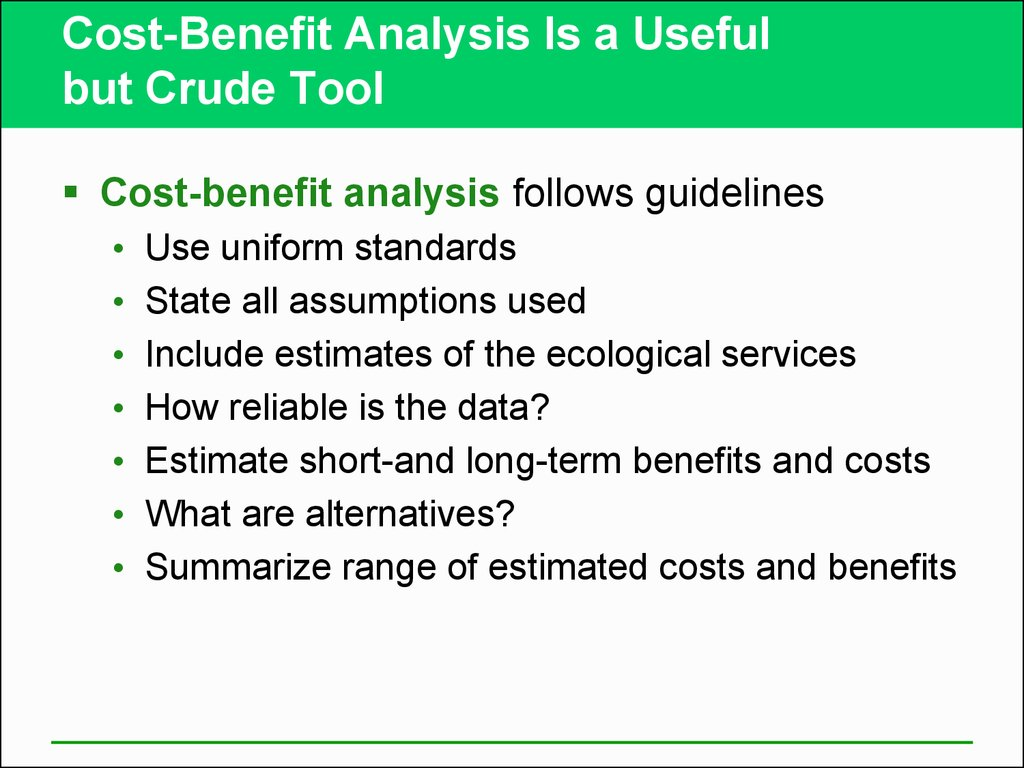 cost benefit analysisis Definition: it can be explained as a procedure for estimating all costs involved and possible profits to be derived from a business opportunity or proposal description: it takes into account both quantitative and qualitative factors for analysis of the value for money for a particular project or.