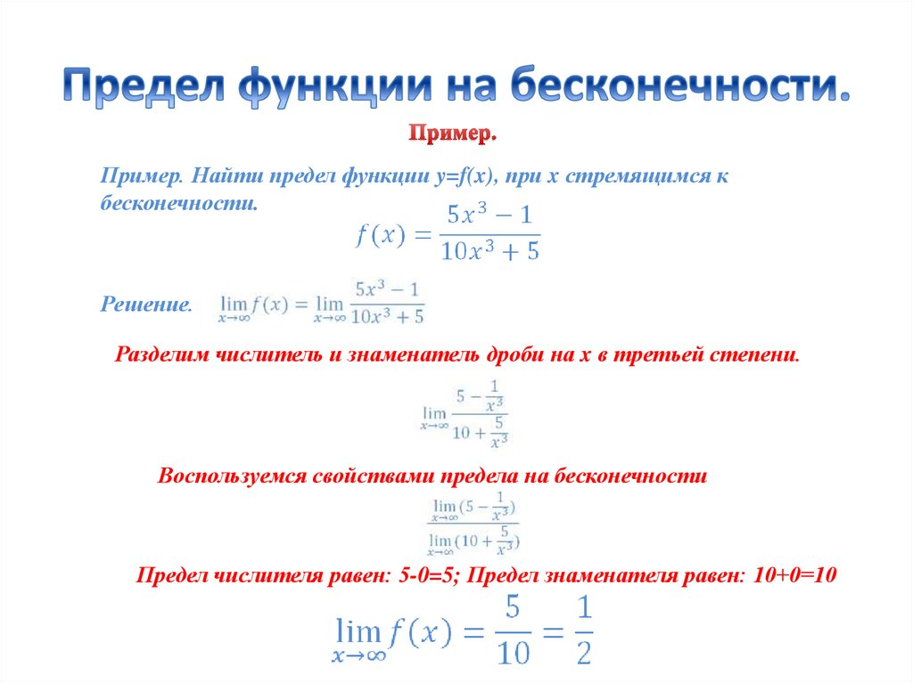 предел функции на бесконечности примеры решения содержание ДСП, как