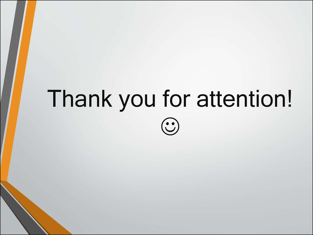 Thank you for attention! 