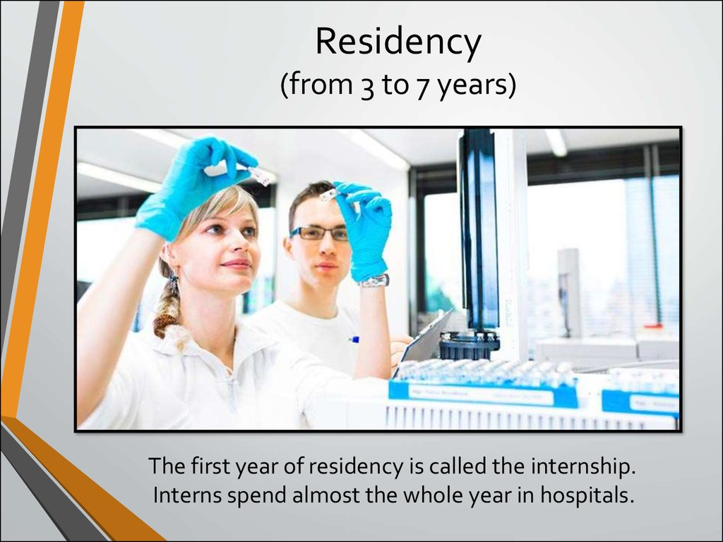 Residency (from 3 to 7 years)