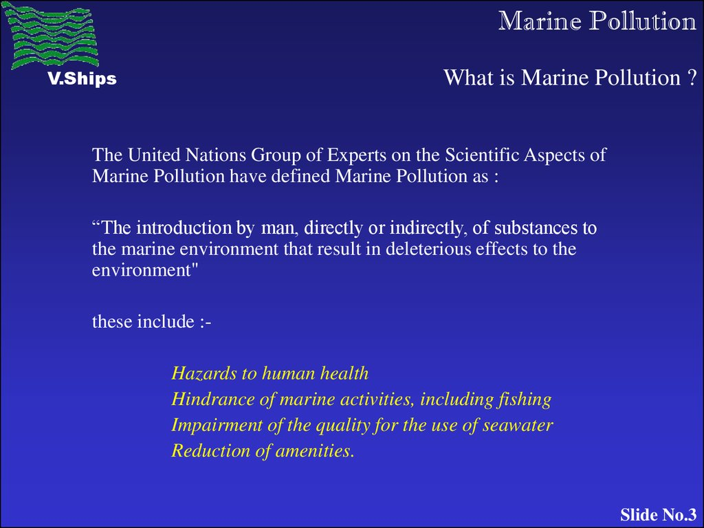 What is Marine Pollution ?
