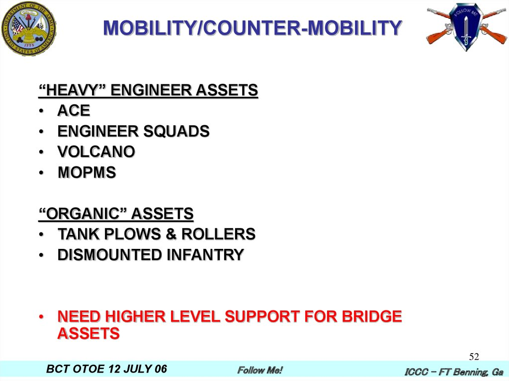 MOBILITY/COUNTER-MOBILITY