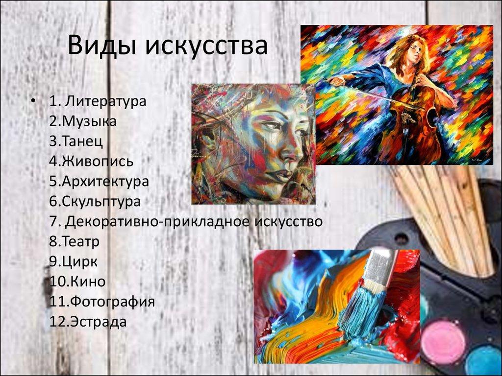 Знакомство с динамическими видами искусства