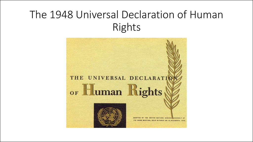 an analysis of universal declaration of human rights