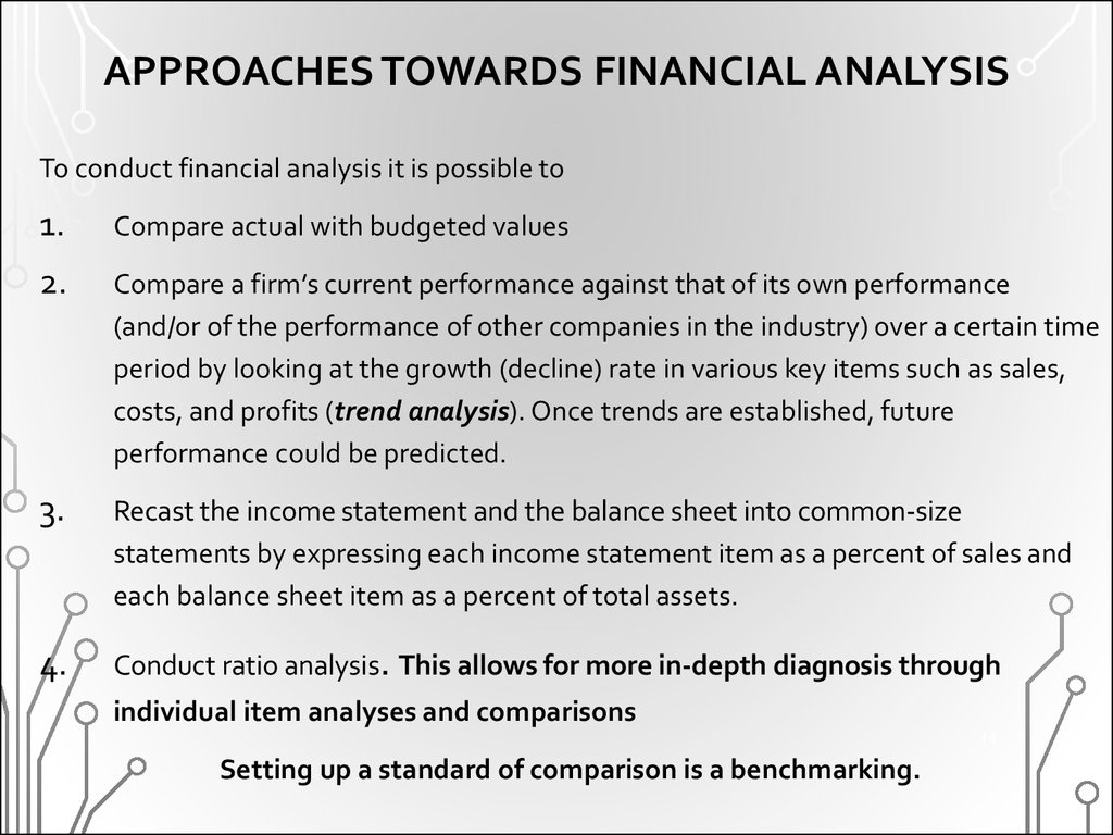 APPROACHES TOWARDS FINANCIAL ANALYSIS