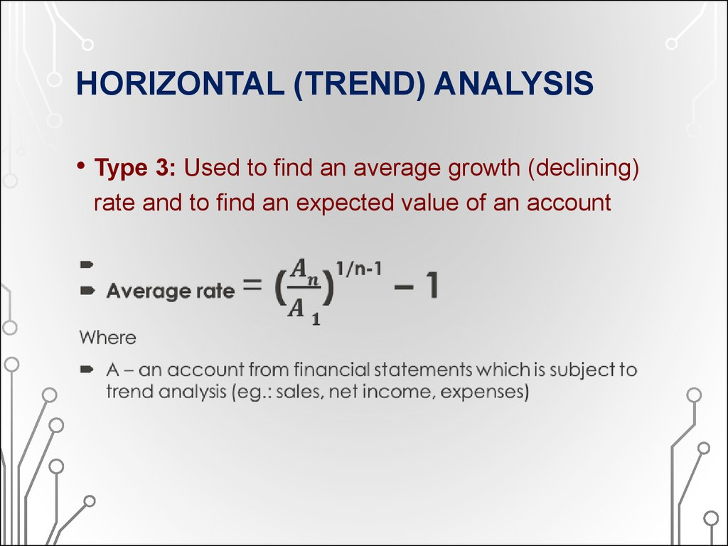 HORIZONTAL (TREND) ANALYSIS