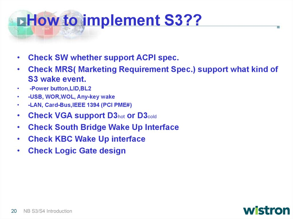 Wistron Corporation - online presentation