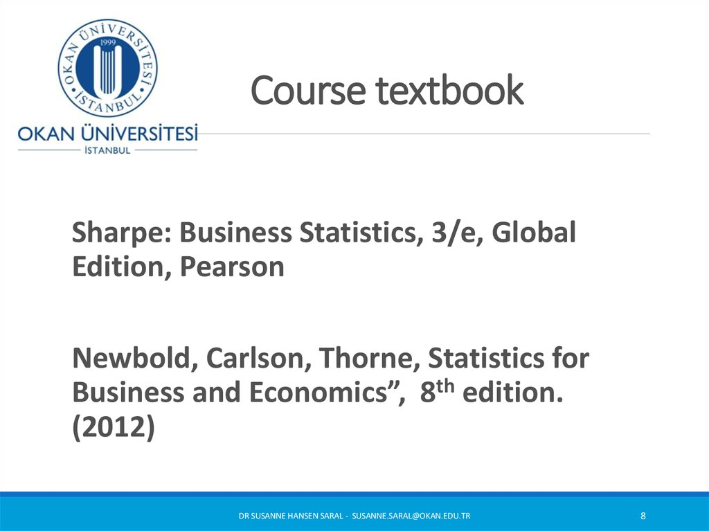 Introduction to Statistics  Week 1 (1) - online presentation