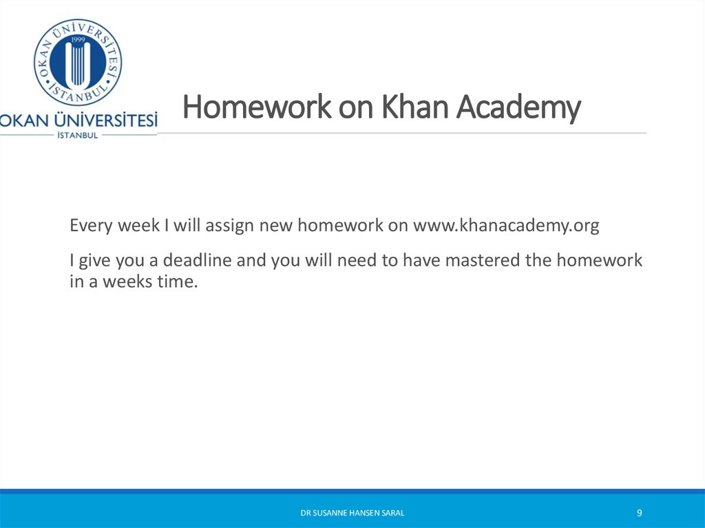 Homework on Khan Academy