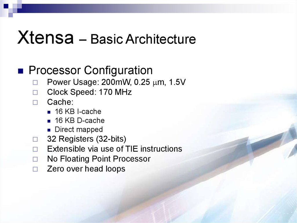 Xtensa – Basic Architecture