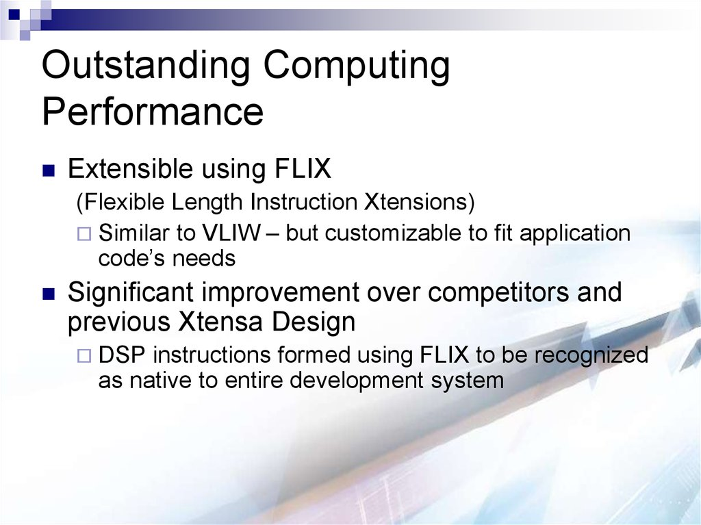 Outstanding Computing Performance