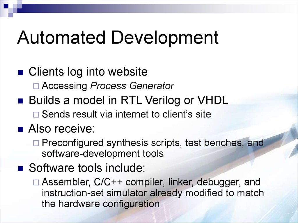 Automated Development