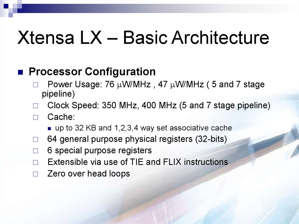 Xtensa LX – Basic Architecture