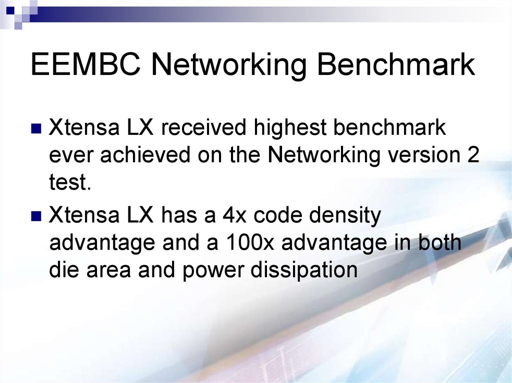 EEMBC Networking Benchmark