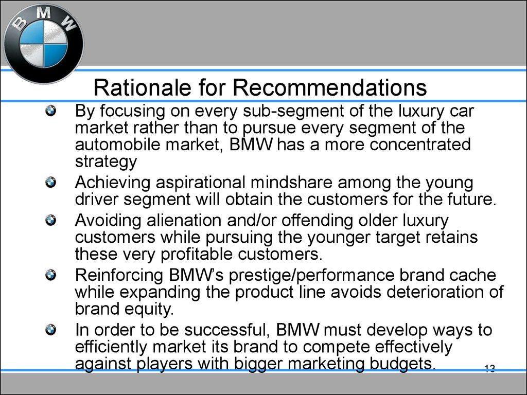 bmw presentation example