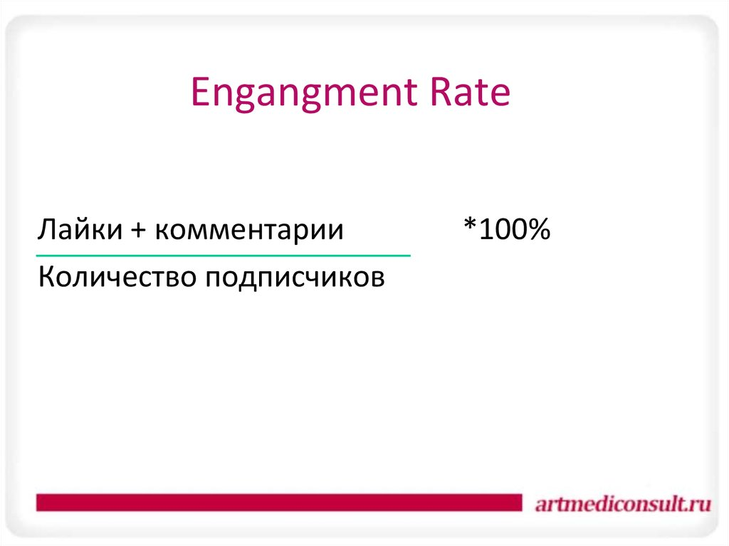 Engangment Rate
