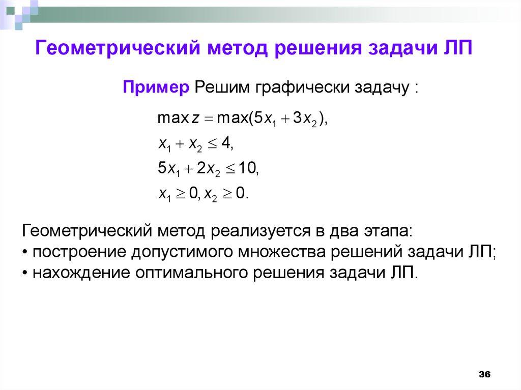 Что такое оптимальное решение задачи лп химия решение задач по массовой доли
