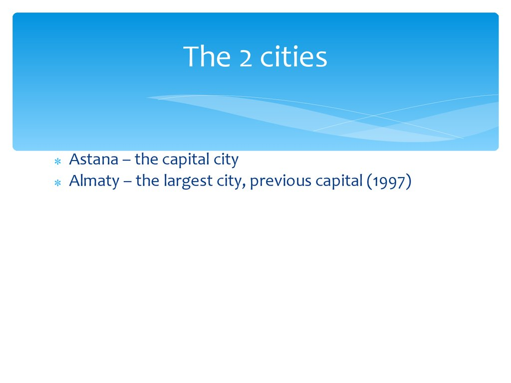 The 2 cities