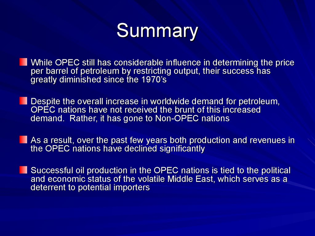 opec  outline  basic facts