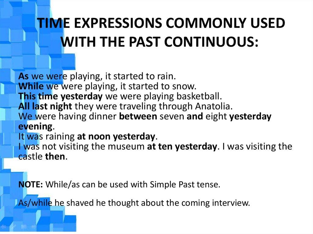 having past tense