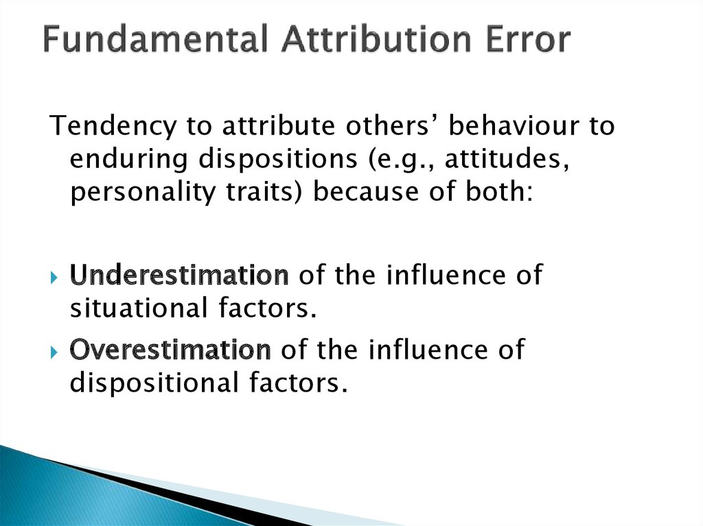 fundamental attribution error This is your very first post click the edit link to modify or delete it, or start a new postif you like, use this post to tell readers why you started this blog and what you plan to do with it.