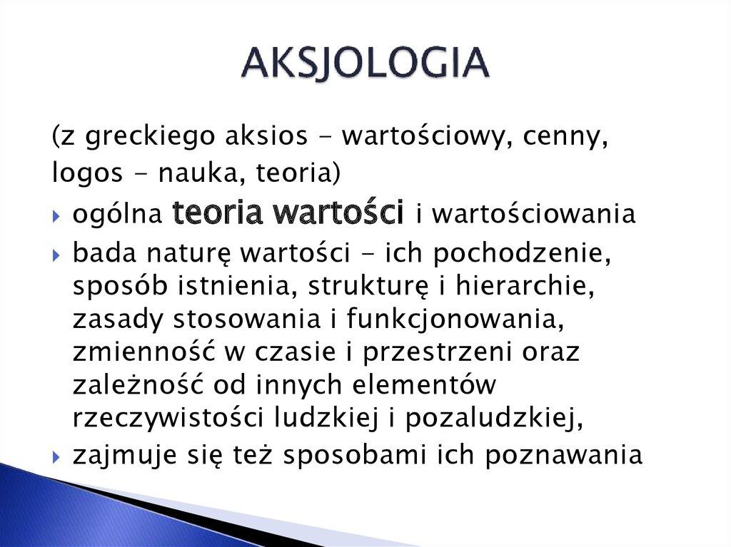 Aksiologia