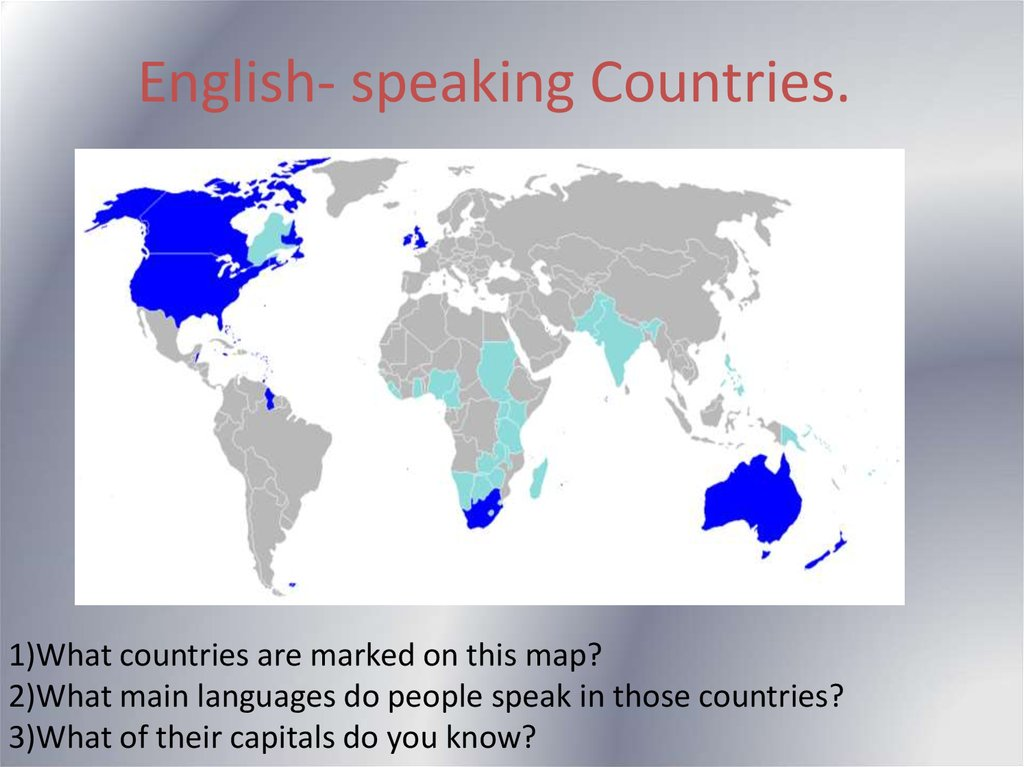English- speaking Countries.