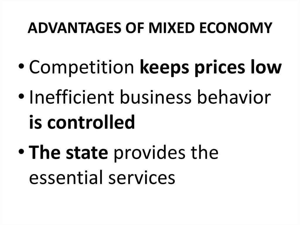 mixed economy essays