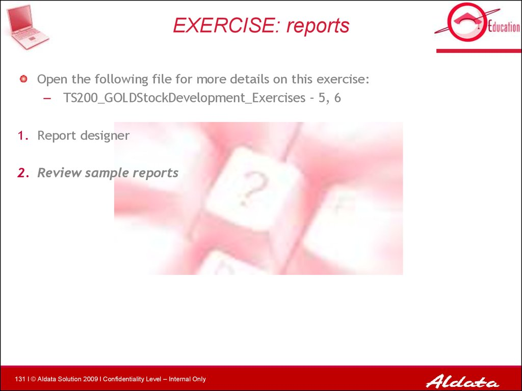 EXERCISE: reports