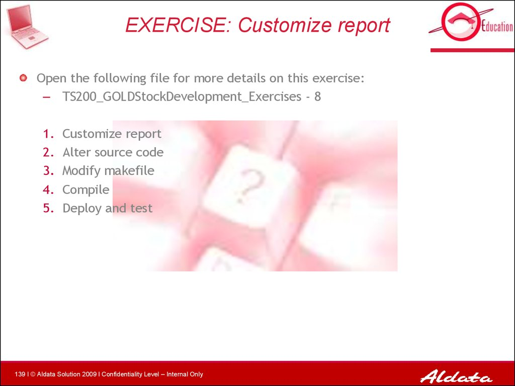 EXERCISE: Customize report