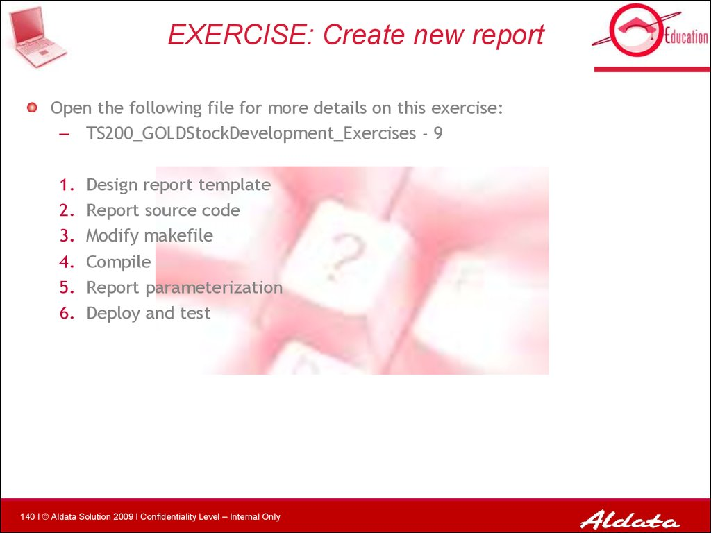 EXERCISE: Create new report