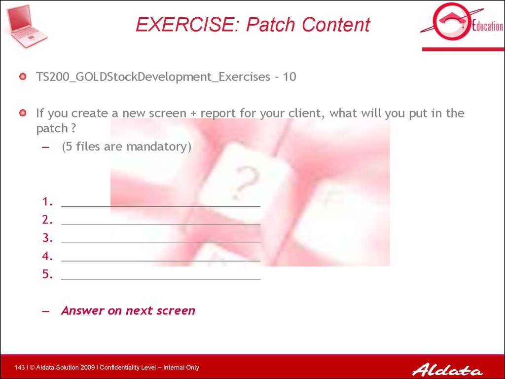 EXERCISE: Patch Content