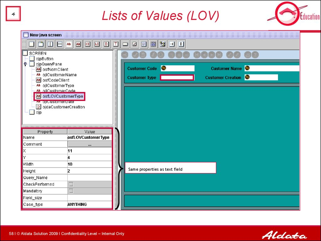 Lists of Values (LOV)