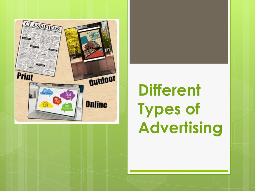 Different Types of Advertising
