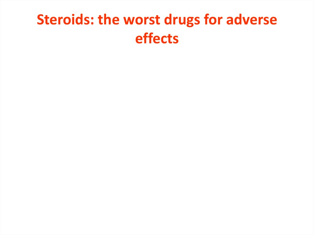 Steroids: the worst drugs for adverse effects